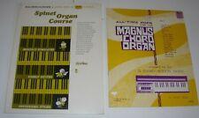 HOW TO PLAY THE ORGAN BOOKS x 2 - MAGNUS CHORD ORGAN - SPINET ORGAN COURSE