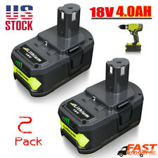 2 Pack New!!! 18V 4.0Ah P108 Li-ion Replacement Battery for Ryobi 18V ONE+ Tool