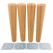 4Pieces 30cm Height Tapered Wood Furniture Legs Sofa Feet Wood Color