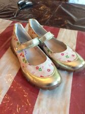 NATURINO shoe mary jane girl youth 35 Floral Gold Accents