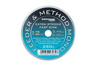Drennan NEW Feeder & Method Coarse Fishing Mono Line 250m *All Sizes*