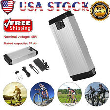 48V 18AH Ebike Battery Kit Electric Bike Battery With Charger Fit 26'' Bicycle