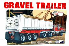 MPC 823 Gravel Trailer 1/25 Super Long Plastic Model Truck Kit New