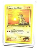 BROCK'S SANDSHREW - 1st Edition Gym Heroes  - 72/132 - Common - Pokemon - NM