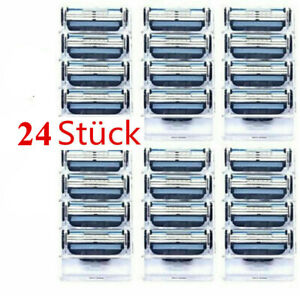24 Pieces for Gillette MACH 3 Razor Blades Stainless Steel Blades Replacments-UK