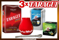 Yerba mate set with 3 different Taragui + necessary accessories