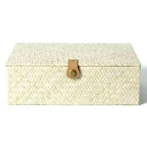 "Threshold Studio McGee Pandan Zig Zag Woven Box Large 3.5"" x 10"""