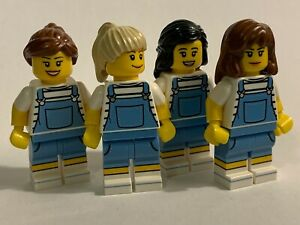 original LEGO parts only - 4 GIRLS in UNIFORMS - genuine lego parts lot