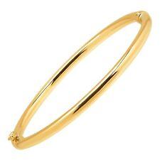 Eternidad oro pulido con bisagras brazalete en oro de 10K