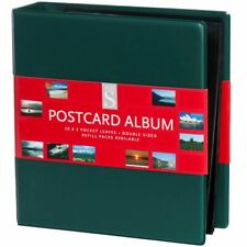 More details for whsmith assorted colour postcard album ring bound with 20 double sided leaves