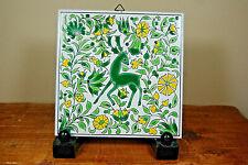 Vintage Art Tile By Pandora Ceramics - Handmade In Greece