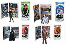 """LUKE CHEWBACCA R2D2 DARTH VADER Star Wars Galaxy of Adventures 3.75"""" NIB"""