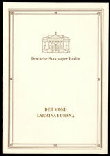 Theaterprogramm, Deutsche Staatsoper Berlin, Der Mond und Camina Burana, 1987