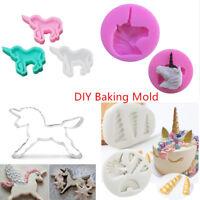 3D Unicorn Horse Silicone Fondant Mold Candy Cake Decor Chocolate Baking Mould