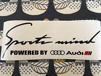 Sports Mind Decal Vinyl Car Stickers Headlight sticker for AUDI  320mm UK MADE