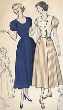 "B 5131 Vintage 1950 Sewing Pattern Versatile Dress Weskit Bust 30"" Size 12"