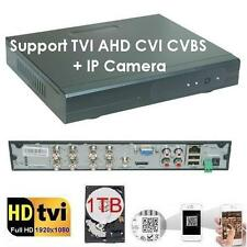 Sunvision 8Ch HD-TVI Hybrid Security CCTV DVR 1080p analog video + 1TB HDD