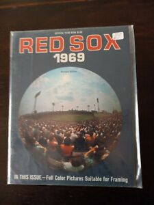 1969 BOSTON RED SOX YEARBOOK YAZ, TONY C, SCOTT, LONBORG, RICO, HARRELSON