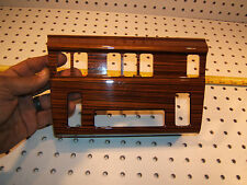 Mercedes Late W124 Dash Center climate control ZEBRANO wood OEM 1 Cover Only