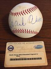 Hank Aaron Signed Official Major League Baseball OMLB Braves HOF Steiner COA