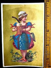 1870s-80s Lovely Lady With Beer Bottle Body Dress Mug Giant Smoking Pipe Card F6