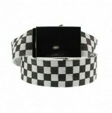 05317bd6435 Unisex Novelty Fancy Dress Black & White Check Canvas Belt Adjustable One  Size