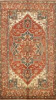 6x9 Geometric Indo Heriz Oriental Area Rug Traditional Hand-Knotted Wool Carpet