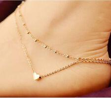 Women 18k Gold Filled Twist Design Anklet Bracelets Beach Feet Chain Jewelry AU