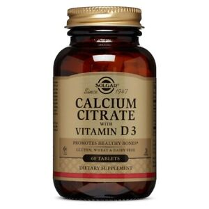 Calcium Citrate with Vitamin D3 60 Tablets Clearance EXP 03/2021
