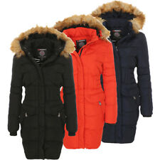 Geographical Norway Ladies Winter Jacket Coat Long Padded Winter Jacket Parka