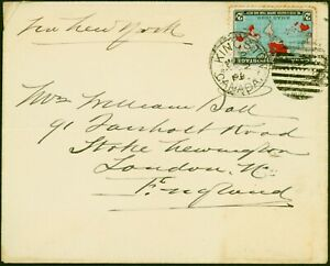 Canada 1899 Cover to England Bearing 2c SG167 Fine