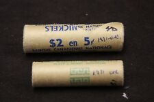 Canada 1971 5 cents Roll Unopened - Canada 1971 10 Cents Roll Unopened