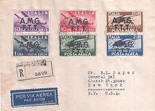 1947 TRIESTE A AMG-FTT AEROGRAMMA P.A. DEMOCRATICA FDC 01/10/47 VIAGGIATO USA