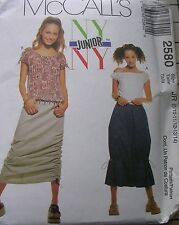 McCalls sewing pattern 2580  NYNY ruched skirts ruffle tie tops cord