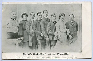 Original Circus Sideshow Freak Postcard - Armless Legless Man NW Kobelkoff