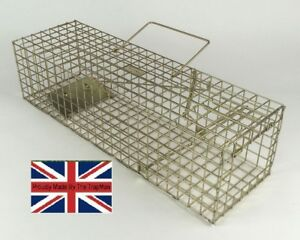 SQUIRREL TRAP HUMANE LIVE CATCH LONG STRONG SECURE Made by TrapMan UK trap maker