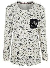 Femmes//Femme Jersey Coton Top Carreaux Pyjamas Pyjama PJ Set gris//Vin Taille 8-22