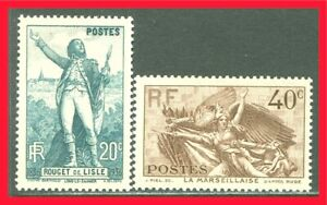 France Postage Stamps Scott 309-310, Mint Lightly Hinged Complete Set!! F374a
