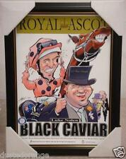 BLACK CAVIAR WEGS WORLD ROYAL ASCOT LIMITED EDITION PRINT FRAMED - LUKE NOLEN