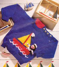 BABY SWEATER e SAILOR giocattolo knitting pattern 99p