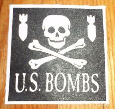 U.S. US Bombs Patch Punk Oi! Rancid Street Dogs Cock Sparrer Social Distortion
