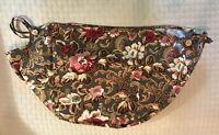 Longaberger Majolica Garden Fabric Large Oval Picnic Basket Liner Flowers Floral