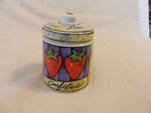MSC Joie De Vivre Confiture Fruit Jam Jelly Jar Canister With Lid No Spoon