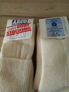 2 pairs mens Arco work boot socks  17 inch size 6-11