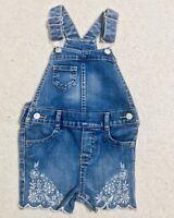 OshKosh Osh Kosh B Gosh Baby Denim Jean Embroidered Overalls 18 Months Toddler