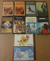 Large Collection of 10 Music Cassette Tapes, Joblot, Bundle, Various