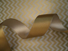 Gold & Cream Reversible Double Sided Satin Ribbon Cakes, Decoration wreath, Bow