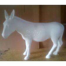 ESEL ROHLING weiß lebensgroß 180 cm Garten Deko Tier Figur BAUERNHOF ZOO Donkey