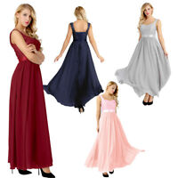 Women Lace Floral Party Ball Prom Gown Formal Cocktail Wedding Long Dress Maxi