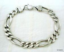 chain bracelet handmade jewellery cuff vintage antique tribal old silver link